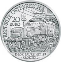 Österreich 20 Euro 2009 Elektrifizierung der Bahn