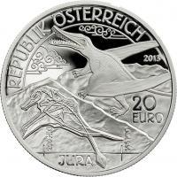 Österreich 20 Euro 2013 Jura /Serie Lebendige Urzeit PP