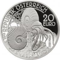 Österreich 20 Euro 2013 Trias /Serie Lebendige Urzeit PP