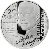 Österreich 20 Euro 2013 Stefan Zweig/Schachnovelle PP
