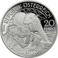 Österreich 20 Euro 2014 Tertiär /  Serie Lebendige Urzeit PP
