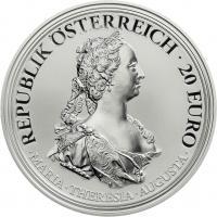 Österreich 20 Euro 2017 Maria Theresia - Tapferkeit und Entschlossenheit PP