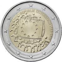 Österreich 2 Euro 2015 30 Jahre EU-Flagge