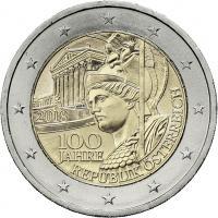 Österreich 2 Euro 2018 100 J. Republik