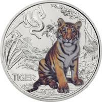 Österreich 3 Euro 2017 Tiger