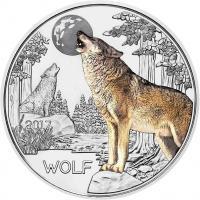 Österreich 3 Euro 2017 Wolf