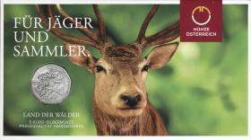Österreich 5 Euro 2011 Land der Wälder, Folder