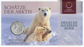 Österreich 5 Euro 2014 Abenteuer Arktis im Folder