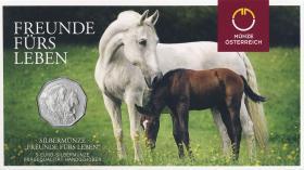 Österreich 5 Euro 2020 Freunde fürs Leben (Ostermünze) im Folder