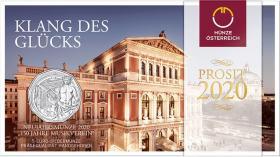 Österreich 5 Euro 2020 150 Jahre Musikverein (Neujahrsmünze) im Folder