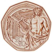 Österreich 5 Euro 2020 150 Jahre Musikverein (Neujahrsmünze)