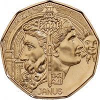 Österreich 5 Euro 2021 Janus (Neujahrsmünze)