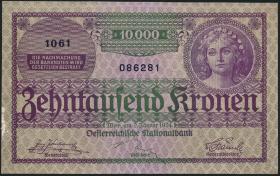 Österreich / Austria P.085 10000 Kronen 1924 (1-)