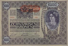 Österreich / Austria P.066 10000 Kronen 1918 (1919) II. Auflage  (1)