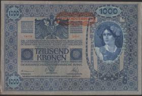 Österreich / Austria P.060 1000 Kronen 1902 (1919) (3+)