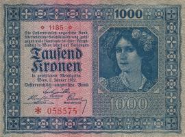 Österreich / Austria P.078a 1000 Kronen 1922 (2)