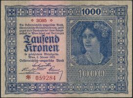 Österreich / Austria P.078b 1000 Kronen 1922 (1-)