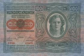 Österreich / Austria P.056 100 Kronen 1912 (1919) (1/1-)