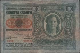 Österreich / Austria P.056 100 Kronen 1912 (1919) (3)