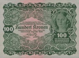 Österreich / Austria P.077 100 Kronen 1922 (2)