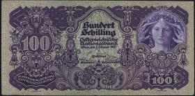 Österreich / Austria P.097 100 Schilling 1927 (3+)