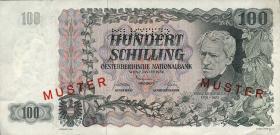 Österreich / Austria P.133s 100 Schilling 1954 Grillparzer Muster (2/1)