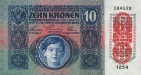 Österreich / Austria P.051 10 Kronen 1915 (1919) (1)