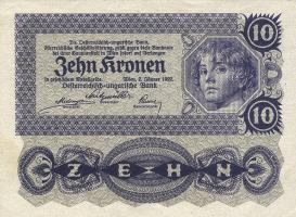 Österreich / Austria P.075 10 Kronen 1922 (2)