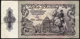 Österreich / Austria P.128 10 Schilling 1950 2. Auflage (3)