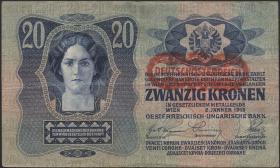 Österreich / Austria P.052 20 Kronen 1913 (1919) (3)