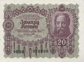 Österreich / Austria P.076 20 Kronen 1922 (1)
