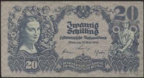 Österreich / Austria P.116 20 Schilling 1945 (3+)