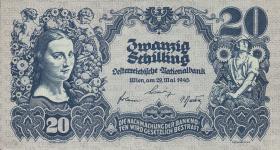 Österreich / Austria P.116 20 Schilling 1945 (1/1-)