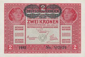 Österreich / Austria P.050 2 Kronen 1917 (1919) (1)