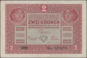 Österreich / Austria P.021 2 Kronen 1917 (2)