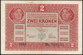 Österreich / Austria P.021 2 Kronen 1917 (3)