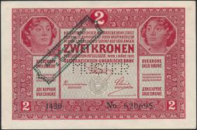 Österreich / Austria P.042a 2 Kronen 1920 MUSTER (1)