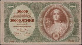 Österreich / Austria P.080 50000 Kronen 1922 (3+)
