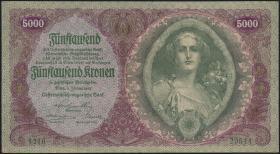Österreich / Austria P.079 5000 Kronen 1922 (2)