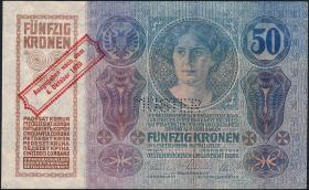 Österreich / Austria P.046 50 Kronen 1920 MUSTER (1/1-)