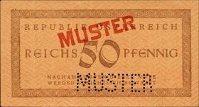 Österreich / Austria P.112s 50 Reichspfennig (1945) Muster (1)