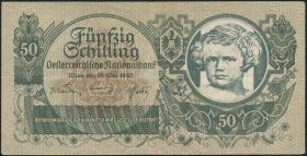 Österreich / Austria P.117 50 Schilling 1945 mit Wzz. (3+)
