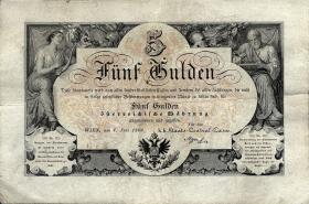 Österreich / Austria P.A151 5 Gulden 1866 (3+)