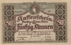 Österreich / Austria 50 Kronen Kassenschein (1)