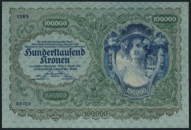 Österreich / Austria P.081 100.000 Kronen 1922 (1)