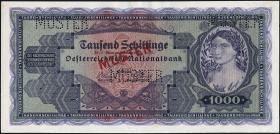 Österreich / Austria P.092s 1000 Schillinge 1925 MUSTER (1-)