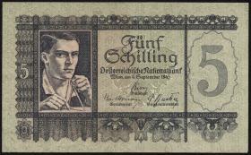 Österreich / Austria P.121 5 Schilling 1945 (1/1-)
