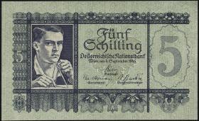 Österreich / Austria P.121 5 Schilling 1945 (1)
