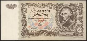 Österreich / Austria P.129b 20 Schilling 1950 (1)