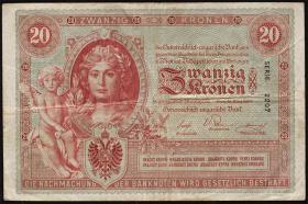 Österreich / Austria P.005 20 Kronen 1900 (3)